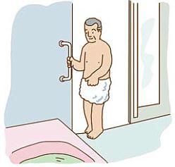 出入用縦手すり(浴室側)