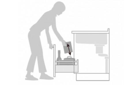 システムキッチン シエラ トレーボード収納