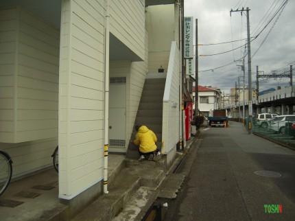 階段の塗装工事