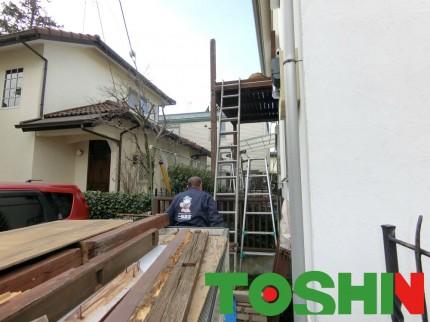 台風被害によるバルコニーの取替工事